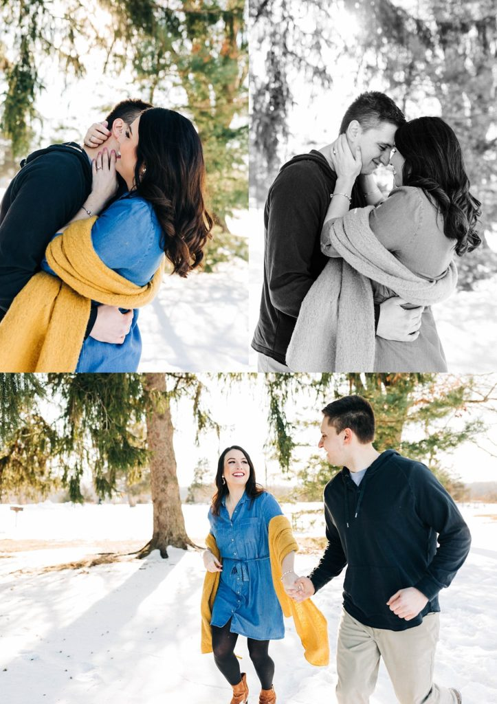 Oakland county engagement session winter photoshoot